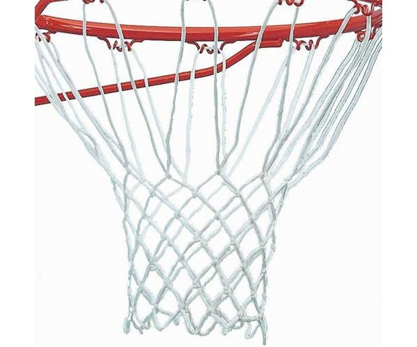 Basketbola tīkls 339-08042 Basketball Net 5mm 2pcs White  8.00